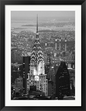 Framed Night Chrysler Print