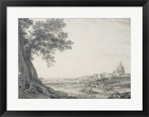 Framed Extensive View of Rome from the Orti della Pineta Sacchetti Print