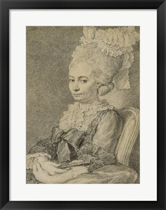 Framed Portrait of a Young Woman Print