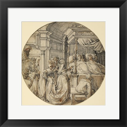 Framed Bridal Scene Print