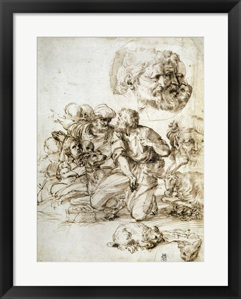 Framed Group of Shepherds, and Other Studies Print