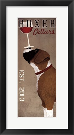 Framed Boxer Cellars Print