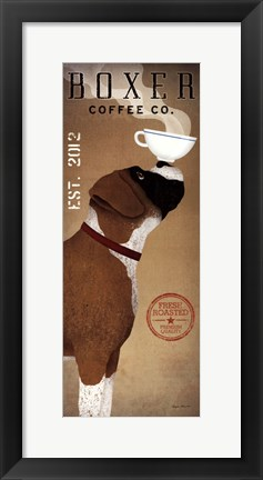 Framed Boxer Coffee Co. v Print