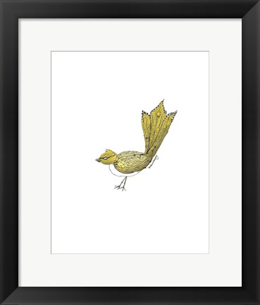 Framed Tribal Bird Print