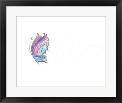 Framed Jane Butterfly Print