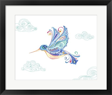 Framed Jane Hummingbird Print