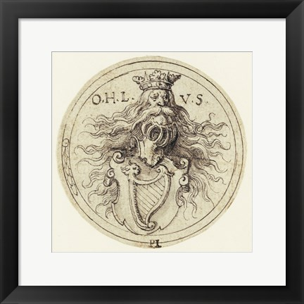 Framed Design for a Bookplate or a Glass Etching Print