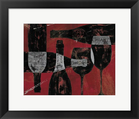 Framed Wine Selection III Red Print