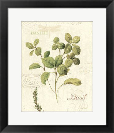 Framed Aromatique III Print