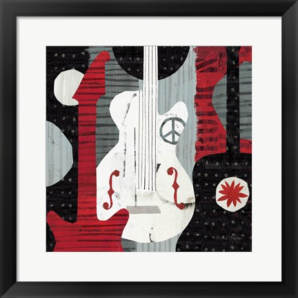 Framed Rock 'n Roll Guitars Print