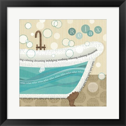 Framed Dancing Bubbles II Print