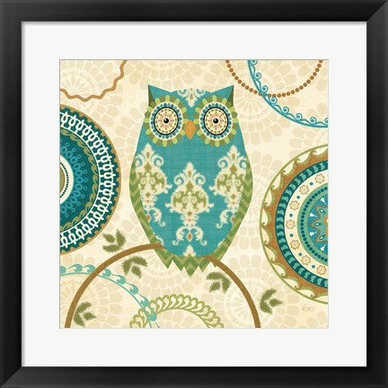 Framed Owl Forest II Print