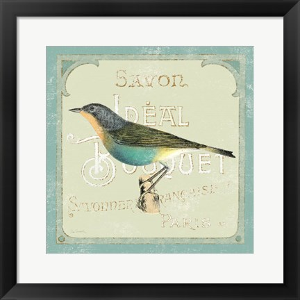 Framed Parisian Bird II Print