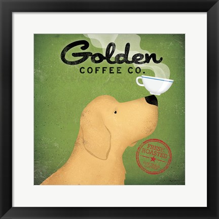 Framed Golden Dog Coffee Co. Print
