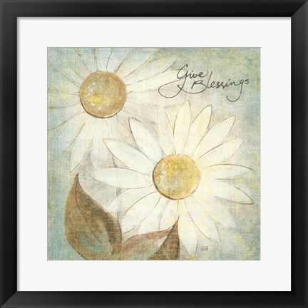 Framed Daisy Do IV - Give Blessings Print
