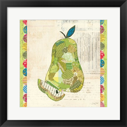 Framed Fruit Collage III - Pear - Print