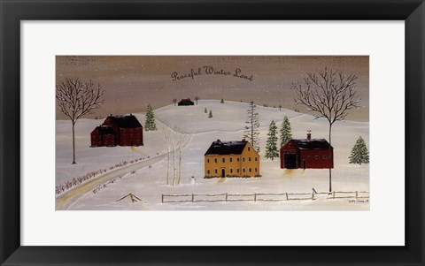 Framed Peaceful Winter Land Print