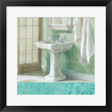 Framed Refresh Bath Border II Print