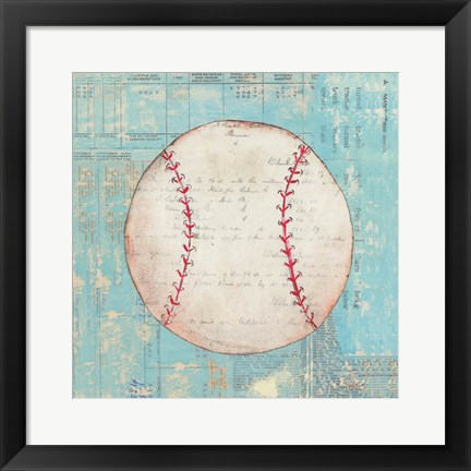 Framed Play Ball I Print