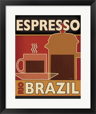 Framed Deco Coffee I Print
