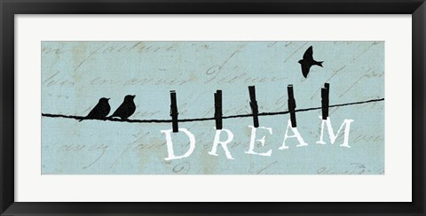 Framed Birds on a Wire - Dream Print