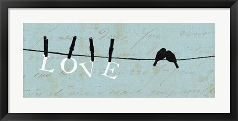 Framed Birds on a Wire - Love Print