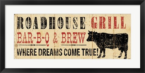 Framed Roadhouse Grill Print