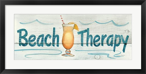 Framed Beach Therapy Print