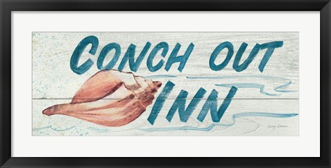 Framed Conch Out Inn Print