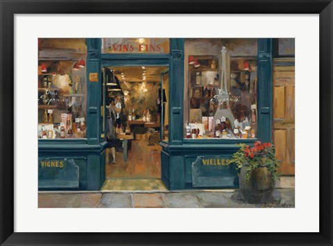 Framed Parisian Wine Shop Print