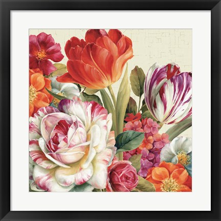 Framed Garden View Tossed - Florals Print