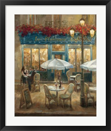 Framed Paris Cafe I Print