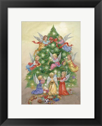Framed Tree Decorating Print