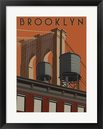 Framed Brooklyn Travel Poster Print