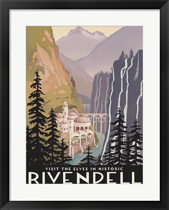 Framed Visit Historic Rivendell Print