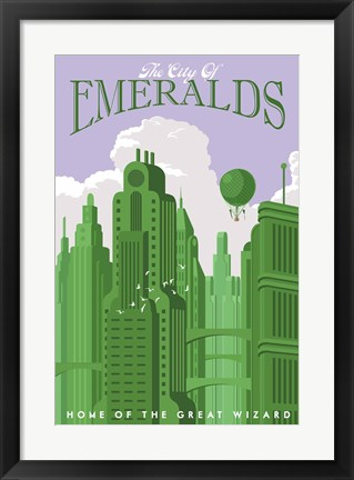 Framed Emerald City Travel Print