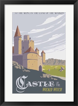 Framed Witche's Castle Travel Print