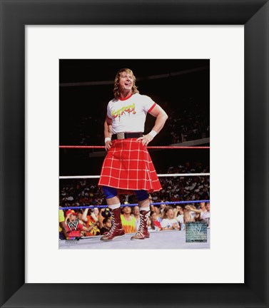 Framed Rowdy Roddy Piper Action Print