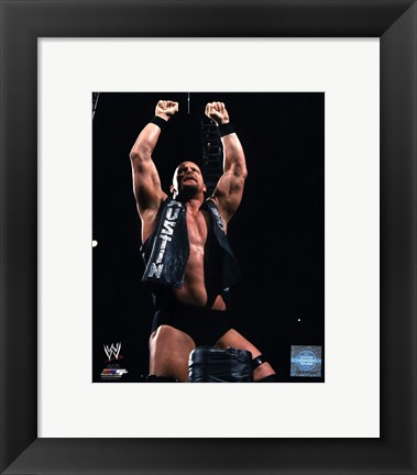 Framed Stone Cold Steve Austin 2001 Action Print