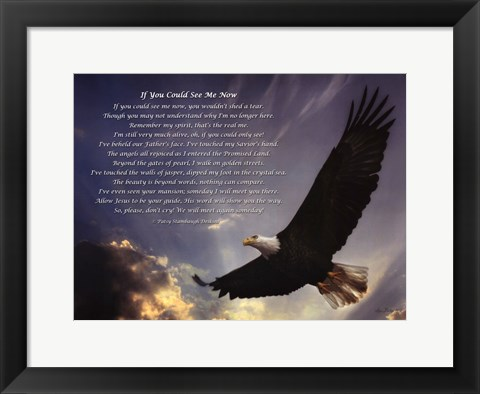 Framed If You Could See Me Now - Eagle Print