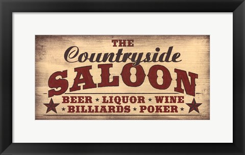 Framed Countryside Saloon Print