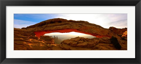 Framed Mesa Arch glowing at sunrise, Canyonlands National Park, Utah, USA Print