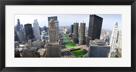 Framed St. Patrick's Day Chicago IL USA Print