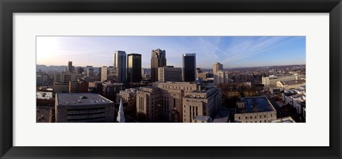 Framed Buildings in a city, Birmingham, Jefferson county, Alabama, USA Print