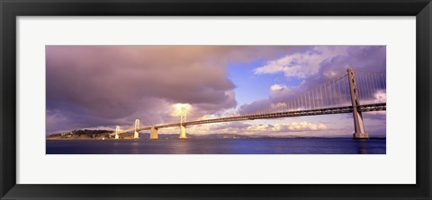 Framed Oakland Bay Bridge San Francisco California USA Print