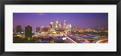 Framed Twilight, Minneapolis, MN, USA Print