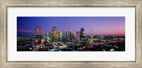 Framed Night, Dallas, Texas, USA Print