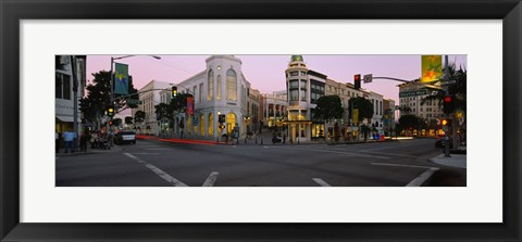 Framed Buildings in a city, Rodeo Drive, Beverly Hills, California, USA Print