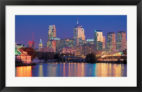 Framed Philadelphia, Pennsylvania Print