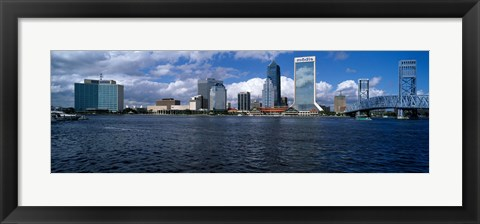 Framed Buildings at the waterfront, St. John's River, Jacksonville, Duval County, Florida, USA Print